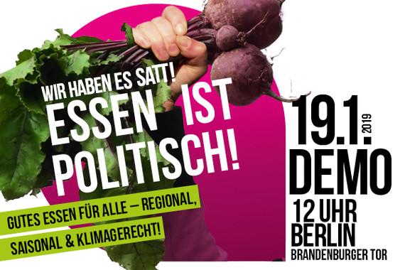 Wir haben Agrarindustrie satt! Demo am 19.01. in Berlin