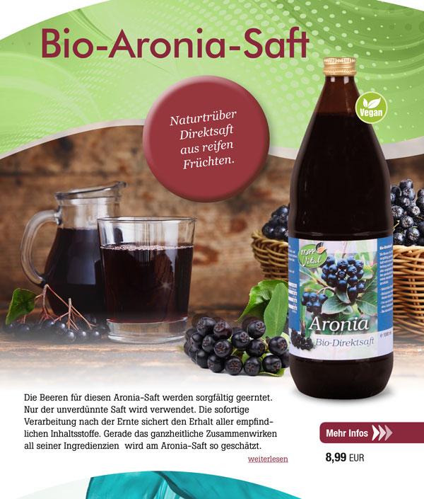 Kopp Vital Bio Aronia-Saft - 1 l