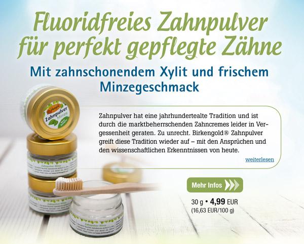 Birkengold Zahnpulver Minze