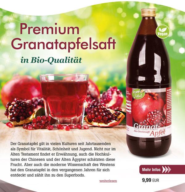 Kopp Vital Bio Granatapfelsaft 1 Liter