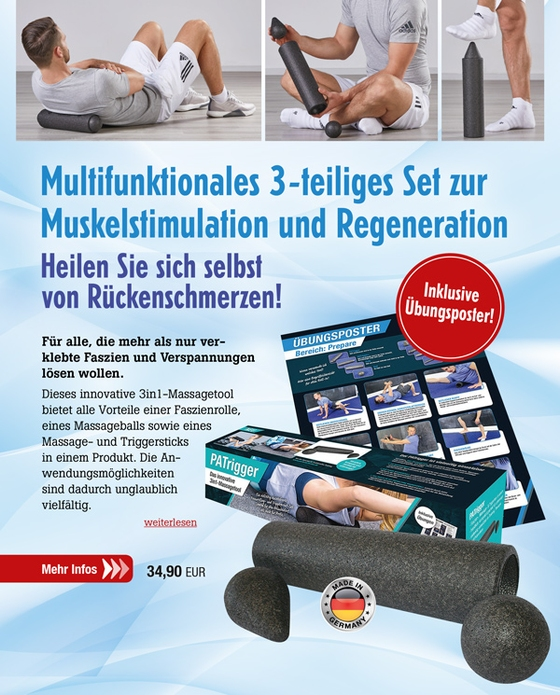 PATrigger - 3in1-Massagetool inkl. Übungsposter