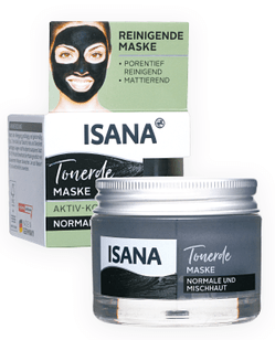 ISANA Tonerde Maske Aktiv-Kohle