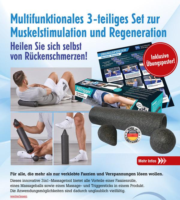PATrigger - 3in1-Massagetool inkl. Übungsposter