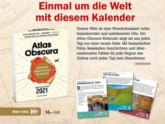 Atlas Obscura - Abreißkalender 2021