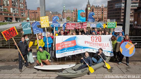 Wir sind Teil einer friedlichen und bunten Protestwelle zum G20-Gipfel. Machst du mit?