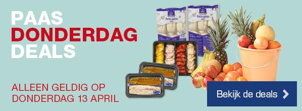 Paas Donderdag Deals - Alleen geldig op donderdag 13 april | Bekijk de deals >