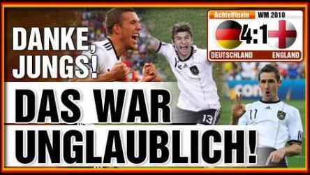 WM-Achtelfinale: Deutschland demütigt England mit 4:1