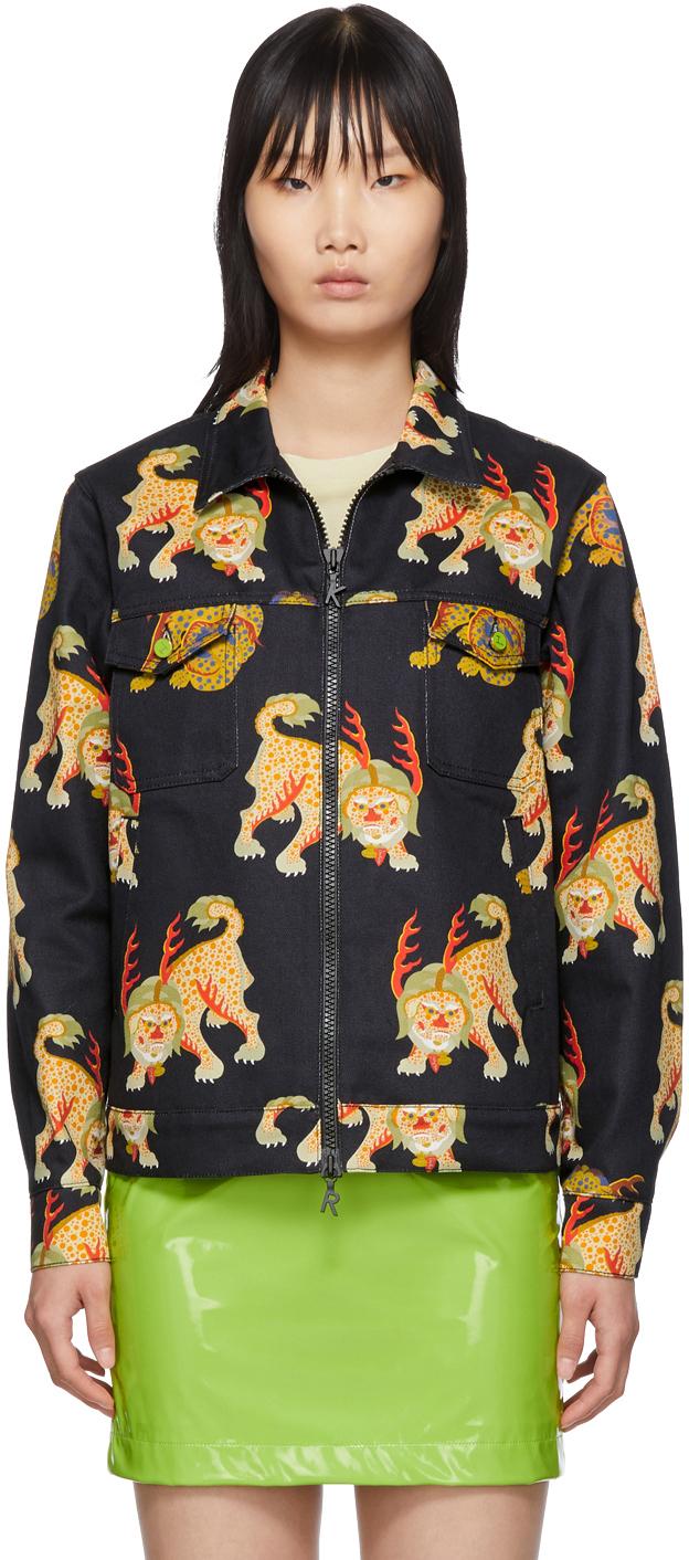Kirin Black Denim Haetae Jacket