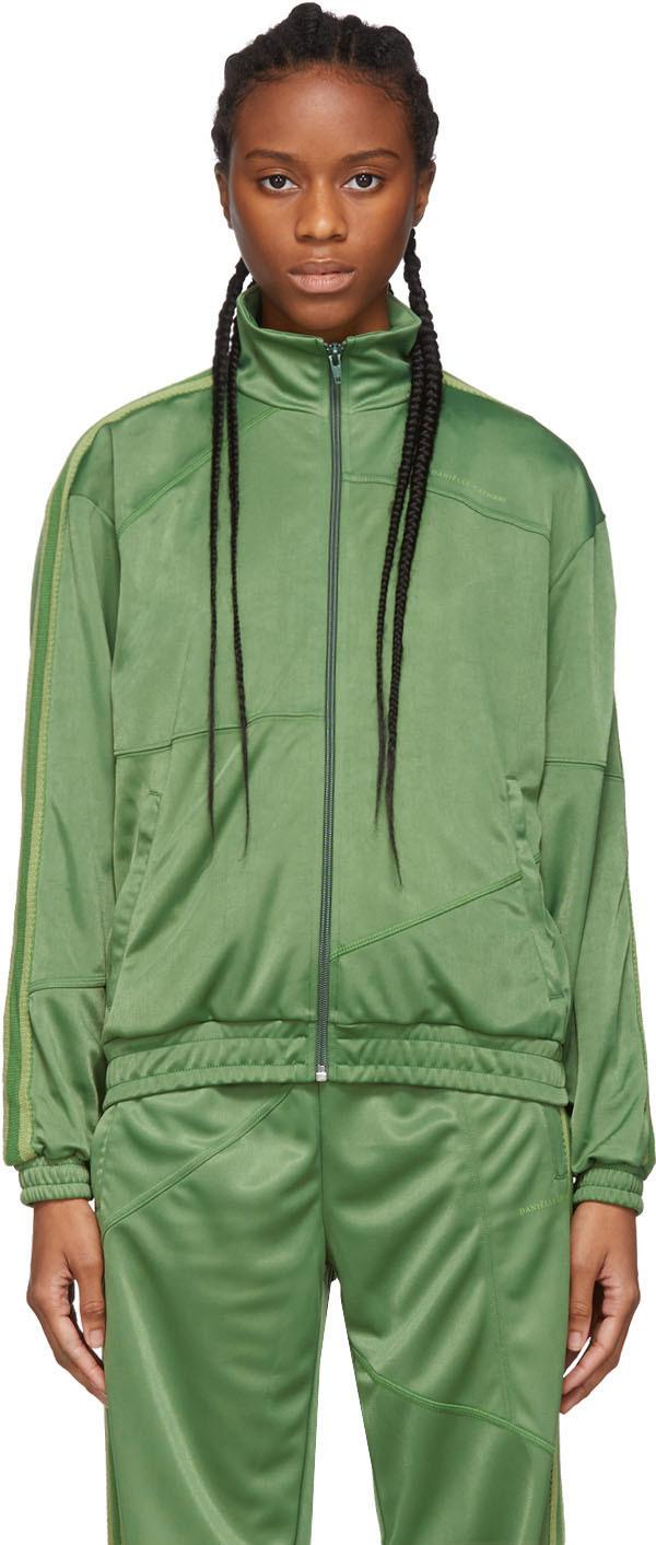 Daniëlle Cathari Green Deconstructed Track Jacket