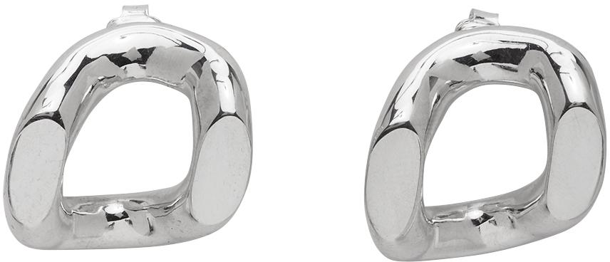 Kwaidan Editions Silver Pearls Before Swine Edition Large Splice Earrings