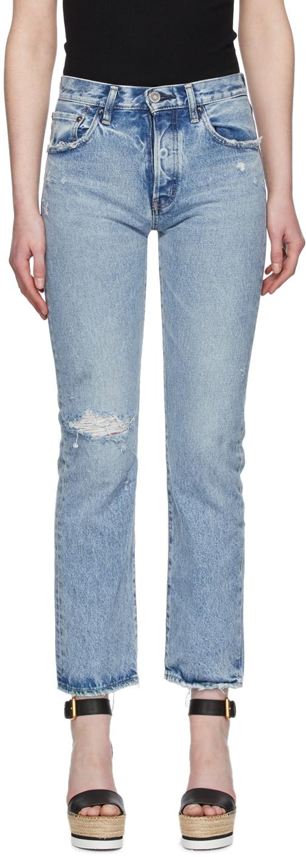 Moussy Vintage Blue Hesperia Straight Jeans