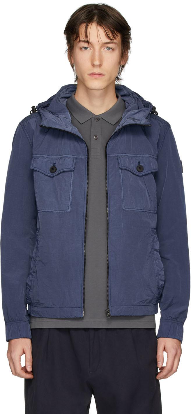 Boss Navy ODEAR1-D Fabric Jacket