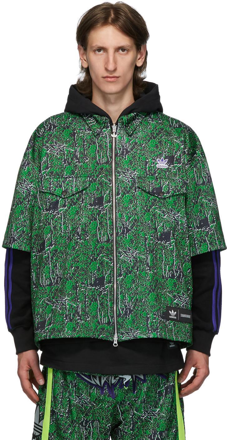 Sankuanz Reversible Black & Green adidas Originals Edition Shirt Hoodie