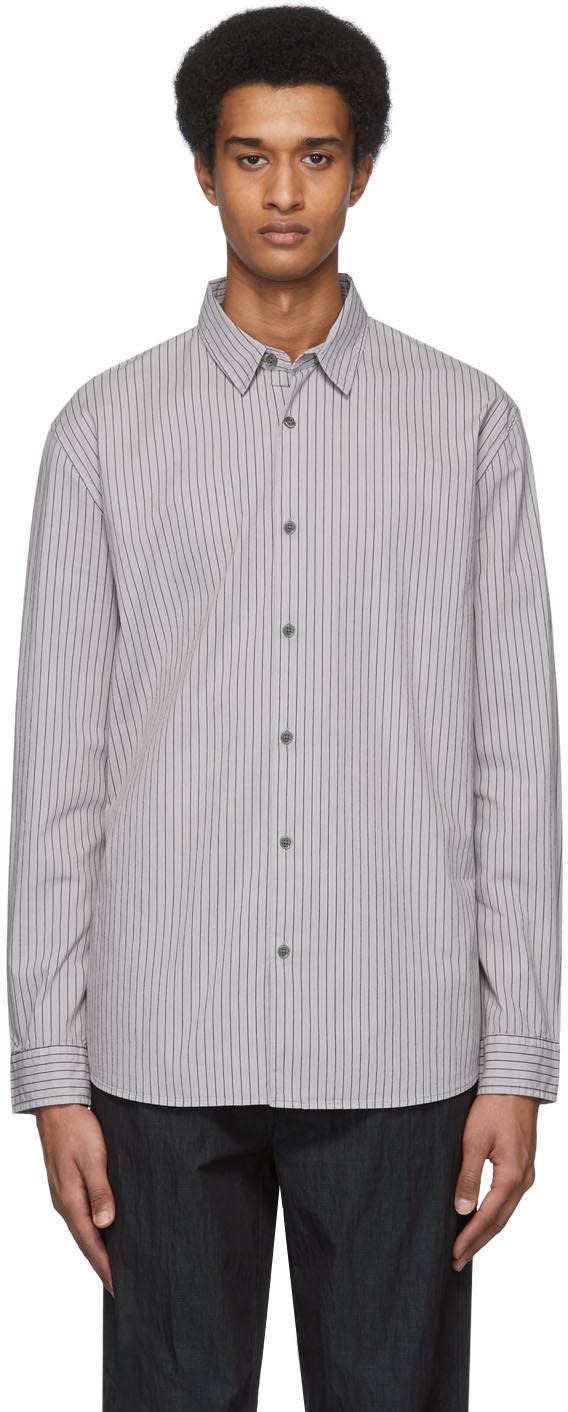 Robert Geller Grey 'The Stretch' Dress Shirt