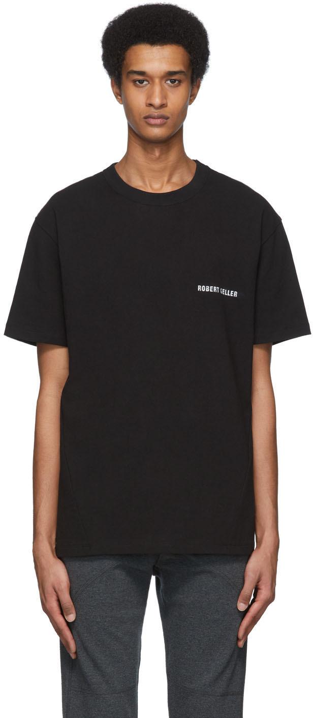 Robert Geller SSENSE Exclusive Black Logo T-Shirt