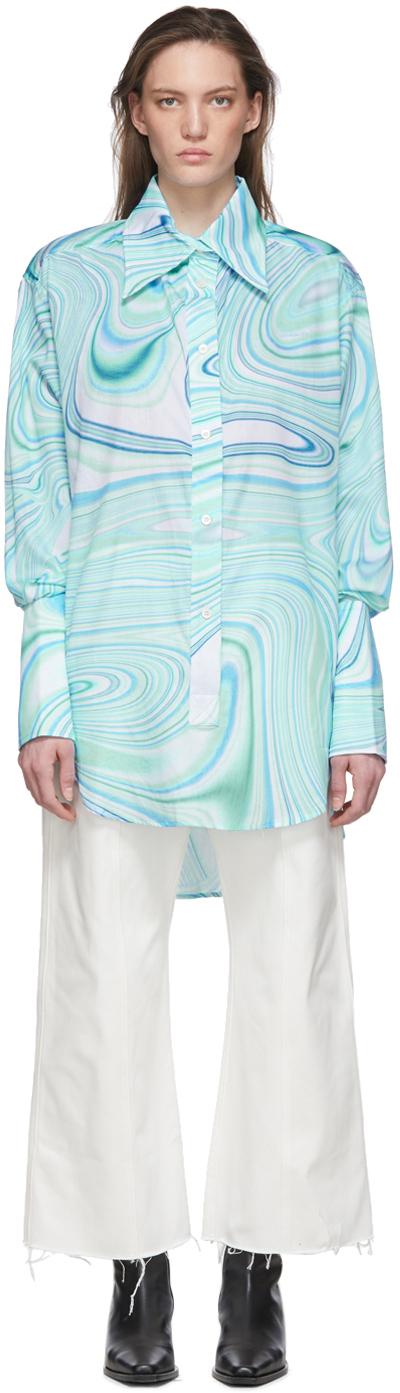 Lecavalier Blue Oversize Tunic Shirt