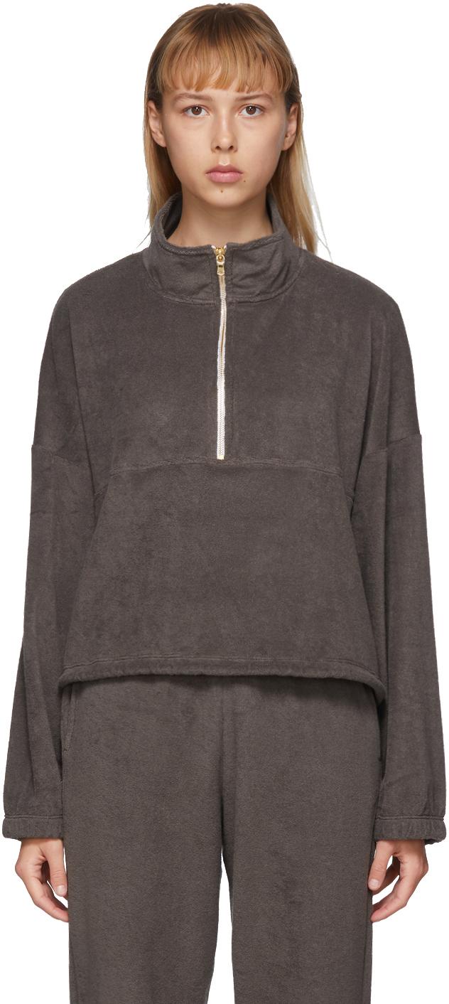 Gil Rodriguez SSENSE Exclusive Brown Terry Diana Half-Zip Sweatshirt