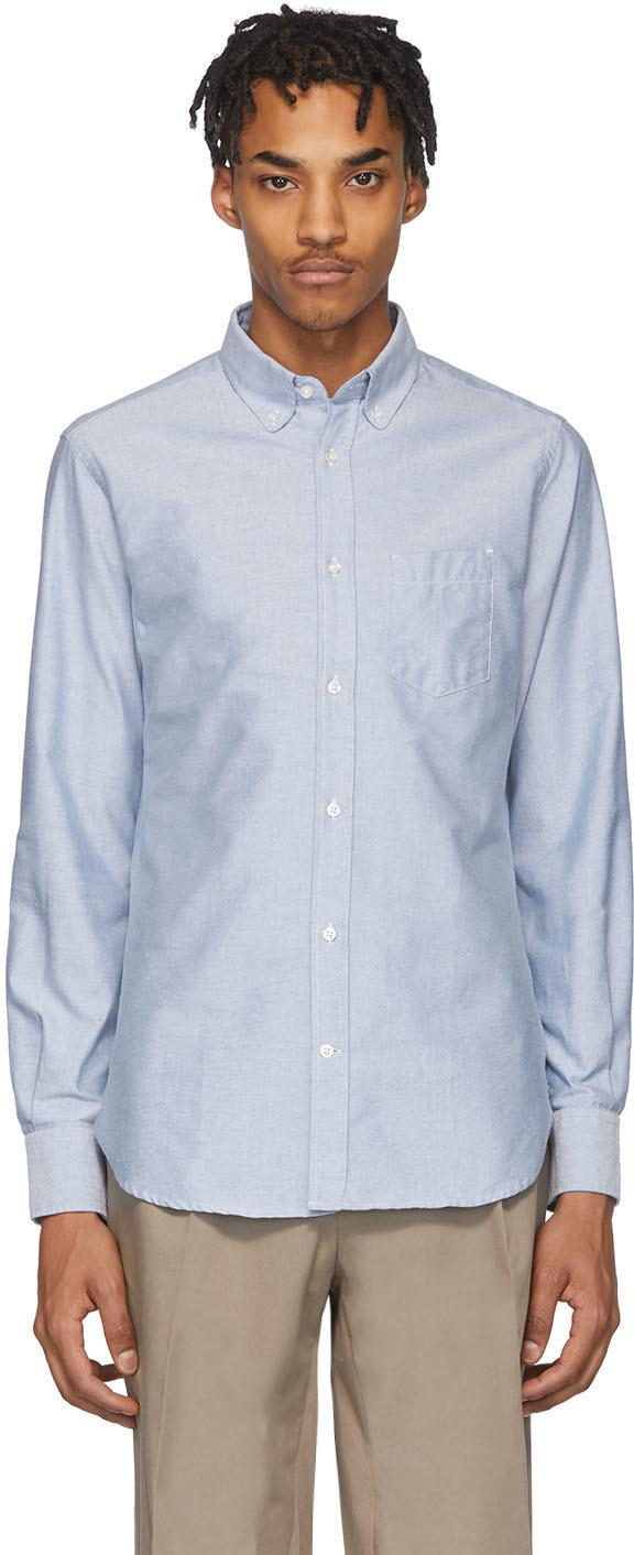 Officine Générale Blue Antime Oxford Shirt