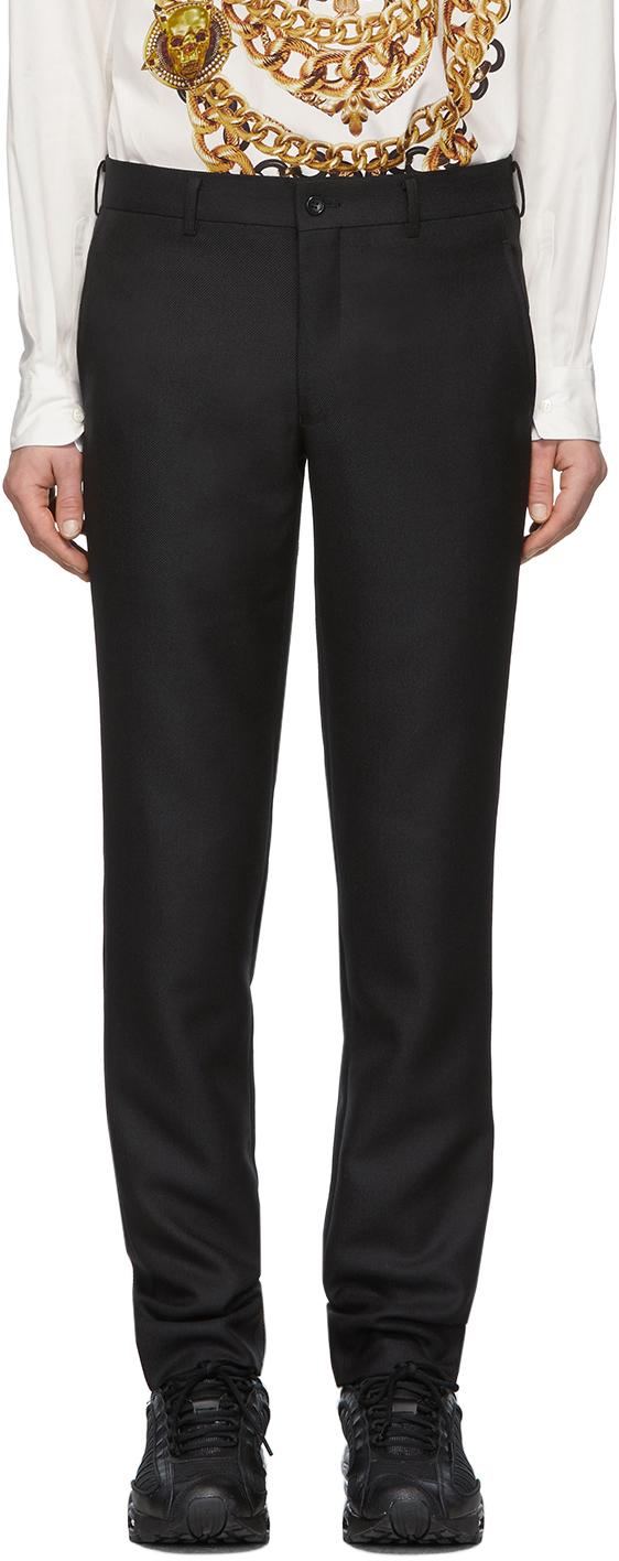 Comme des Garçons Homme Plus Black Wool Serge Trousers