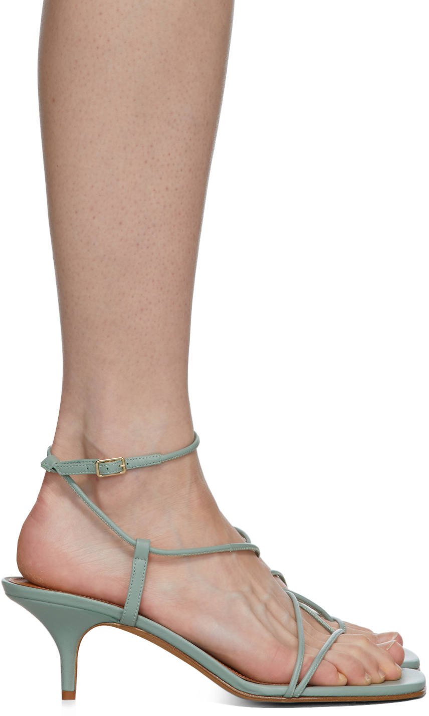 Emme Parsons Blue Tobias Heeled Sandals