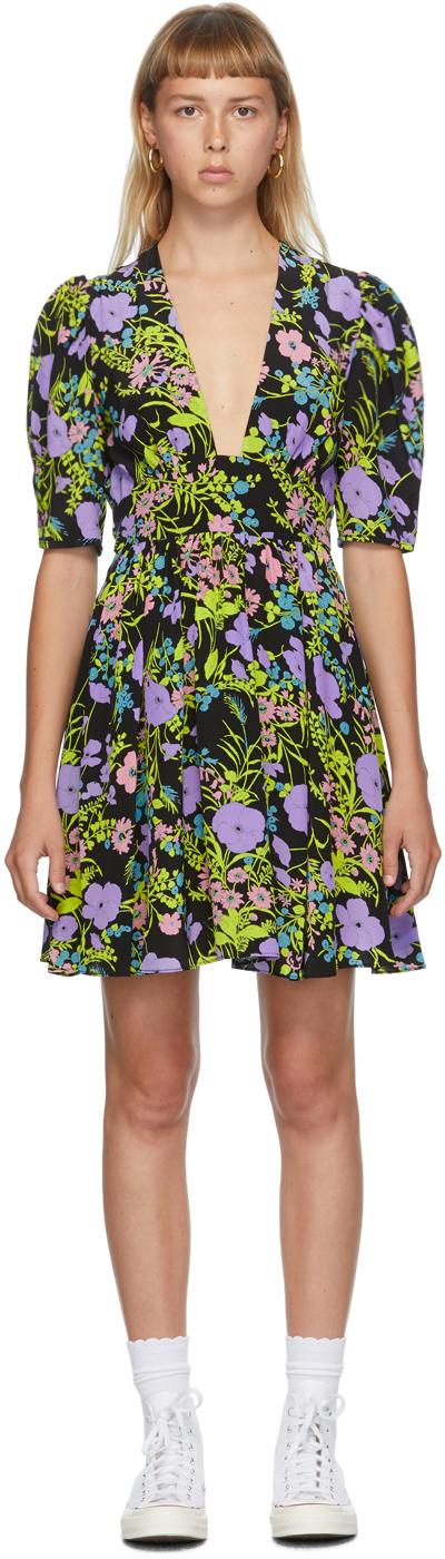 Les Reveries Purple Mini Gigi Dress