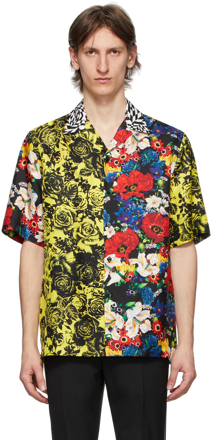Versace SSENSE Exclusive Multicolor Bouquet Silk Shirt