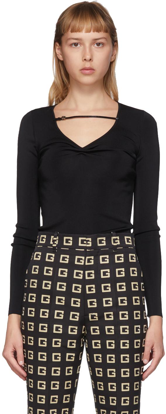 Gucci Black G String V-Neck Sweater