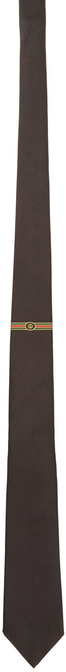 Gucci Black 7.0 Tie