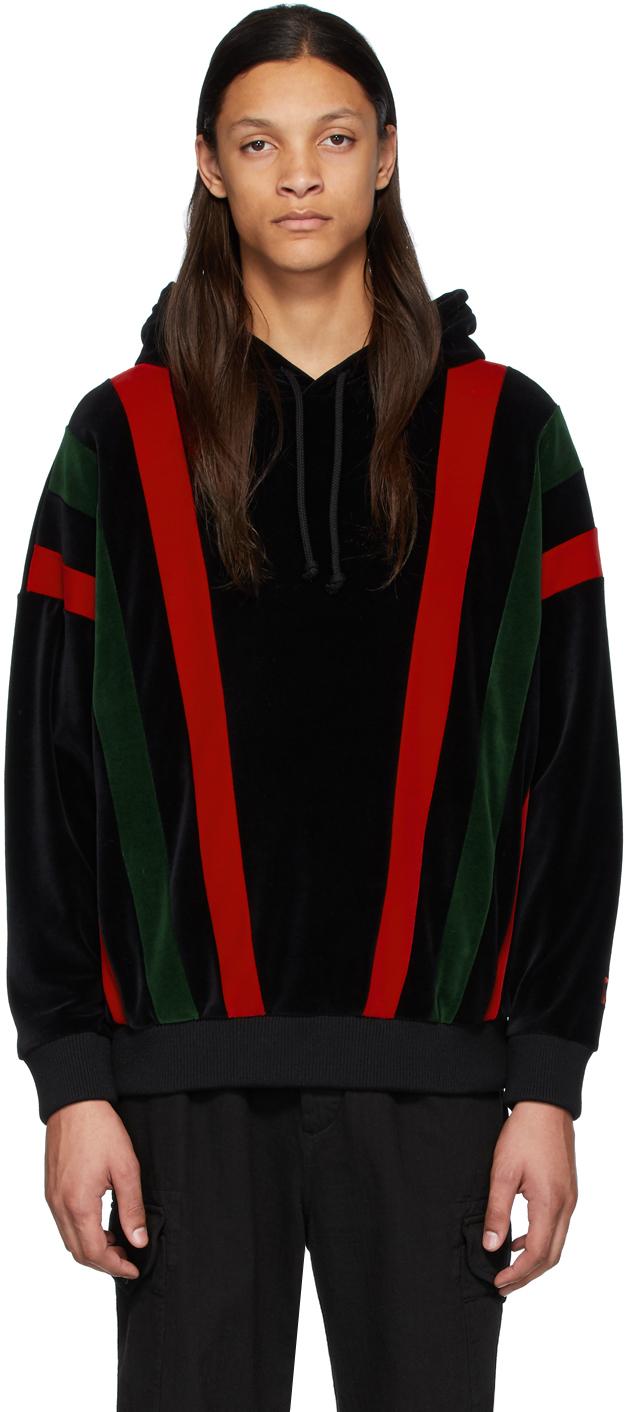 Gucci Black & Multicolor Chenille Hoodie
