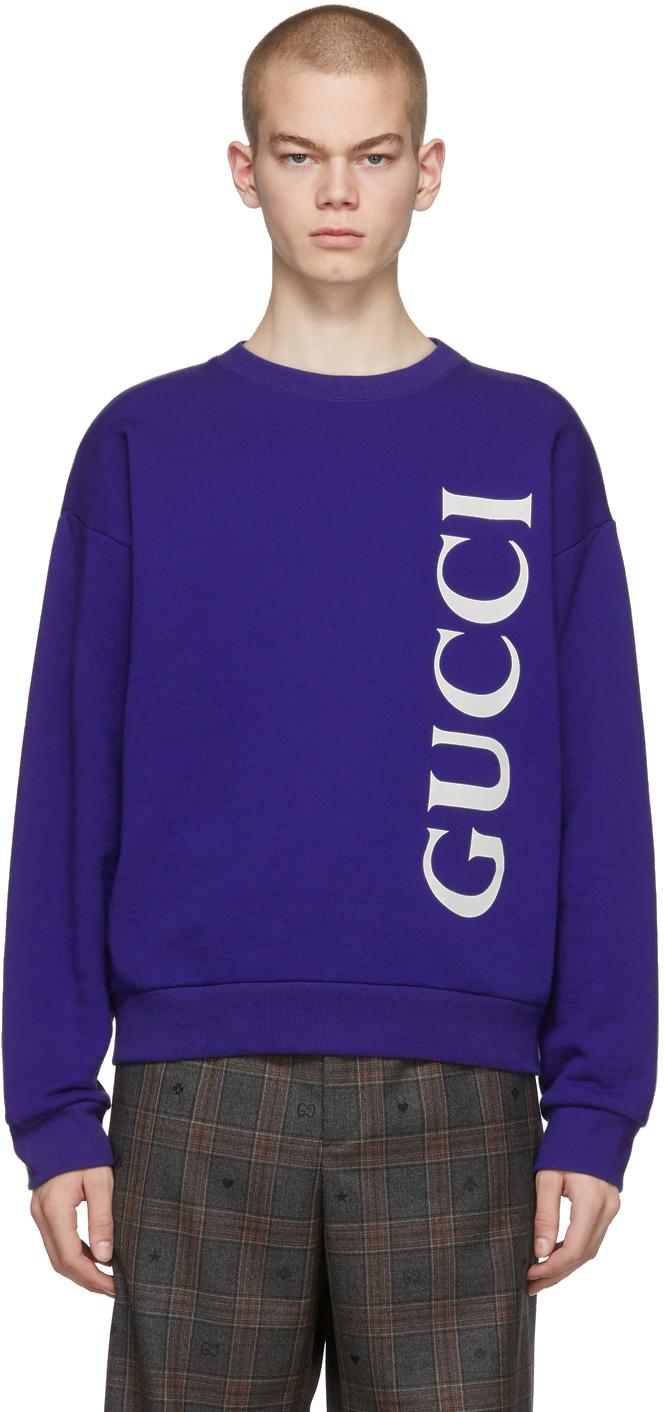 Gucci Blue Logo Sweatshirt
