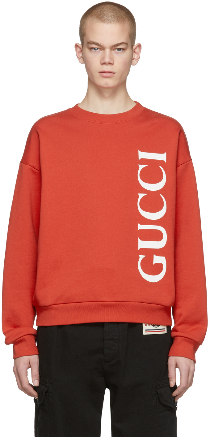 Gucci Red Logo Sweatshirt