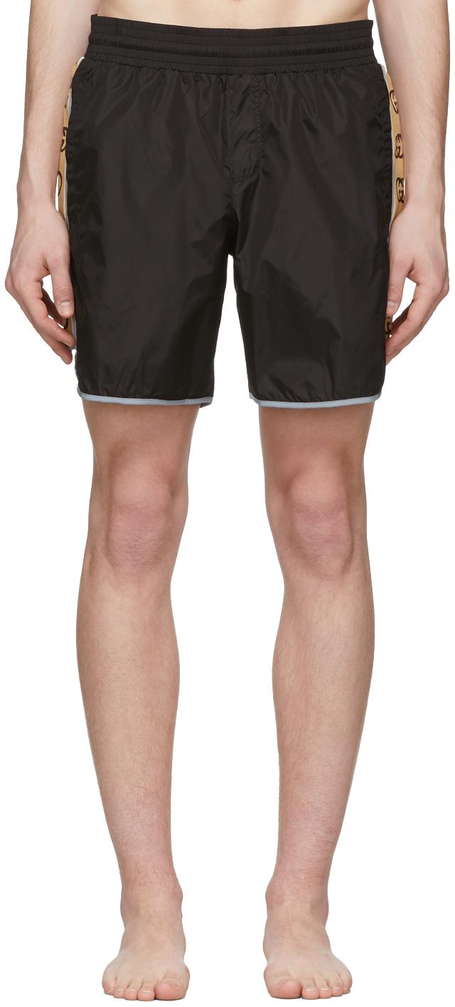 Gucci Black Nylon Swim Shorts