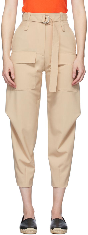 Stella McCartney Beige Wool Adaline Cocoon Trousers