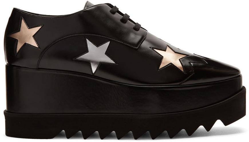 Stella McCartney Black Elyse Stars Derbys