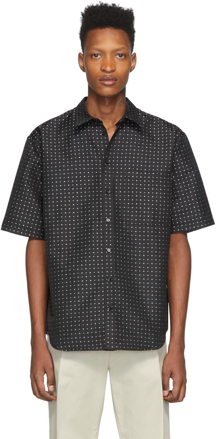 Marcelo Burlon County of Milan Black Jacquard Star Shirt