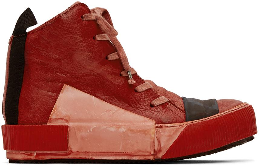 Boris Bidjan Saberi Red Bamba Sneakers