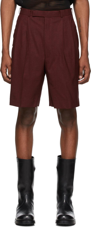 Johnlawrencesullivan Orange Merino Wool Tucked Shorts