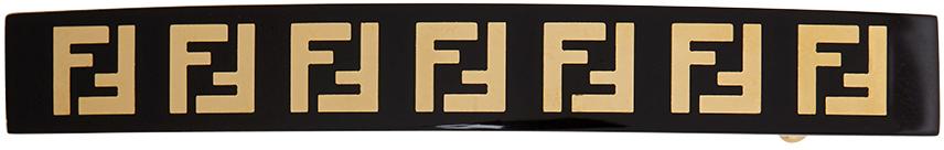 Fendi Gold & Black 'Forever Fendi' Hair Clip
