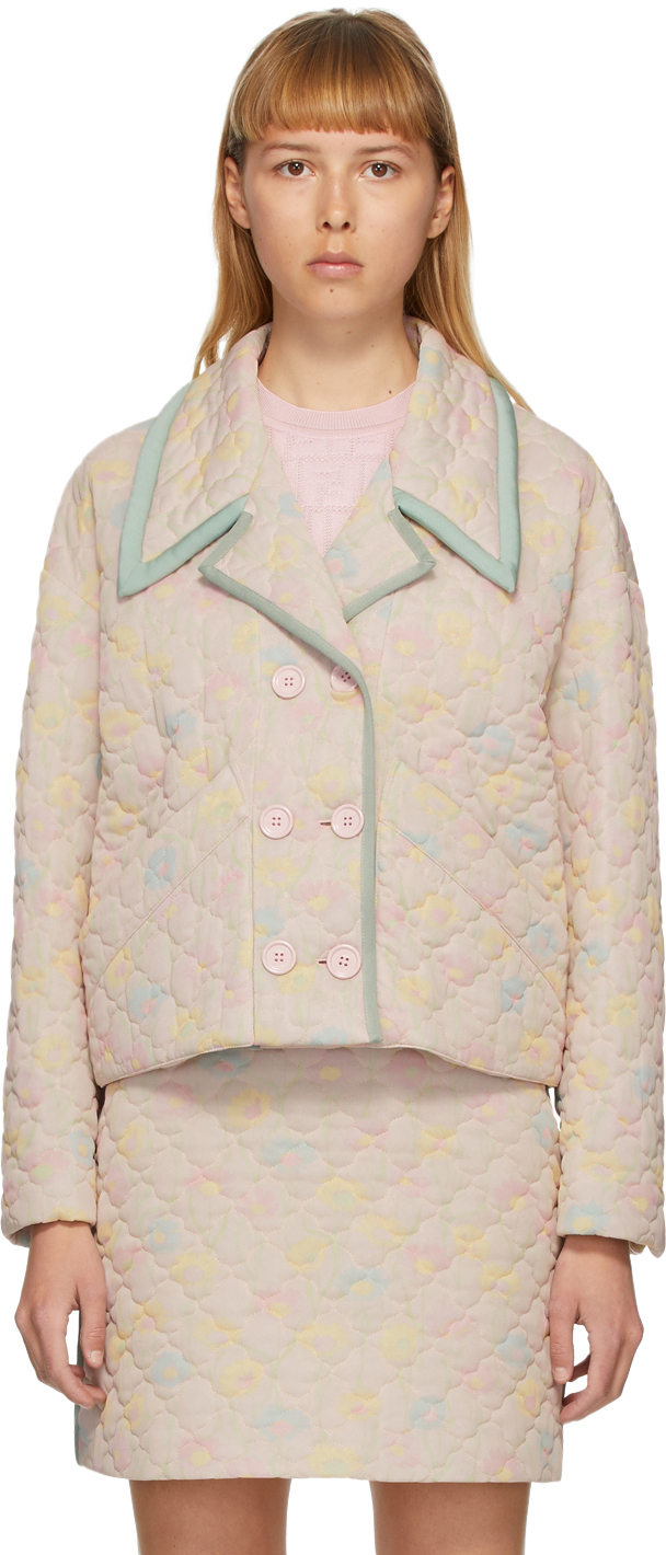 Fendi Pink Quilted Daisies Jacket