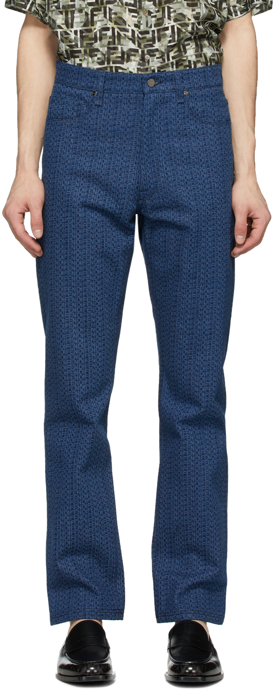Fendi Blue 'Fendi Laser' Jeans