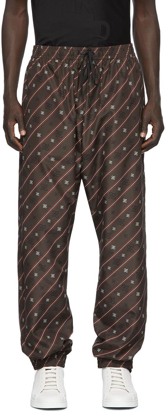 Fendi Brown Karligraphy Lounge Pants