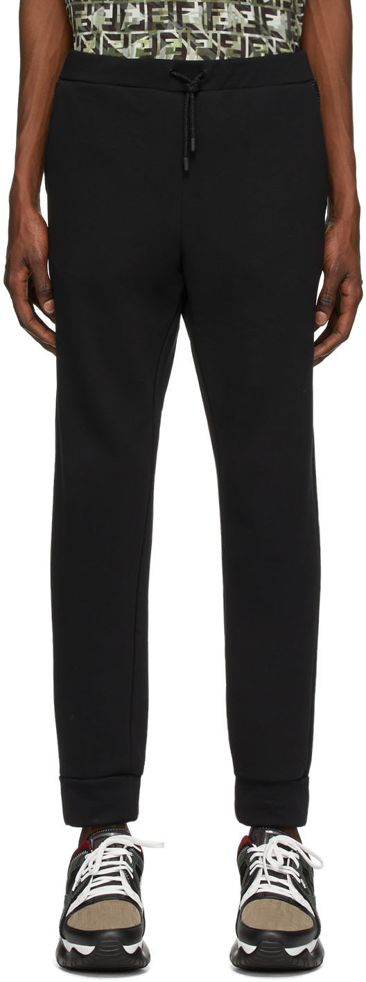Fendi Black Jersey Lounge Pants