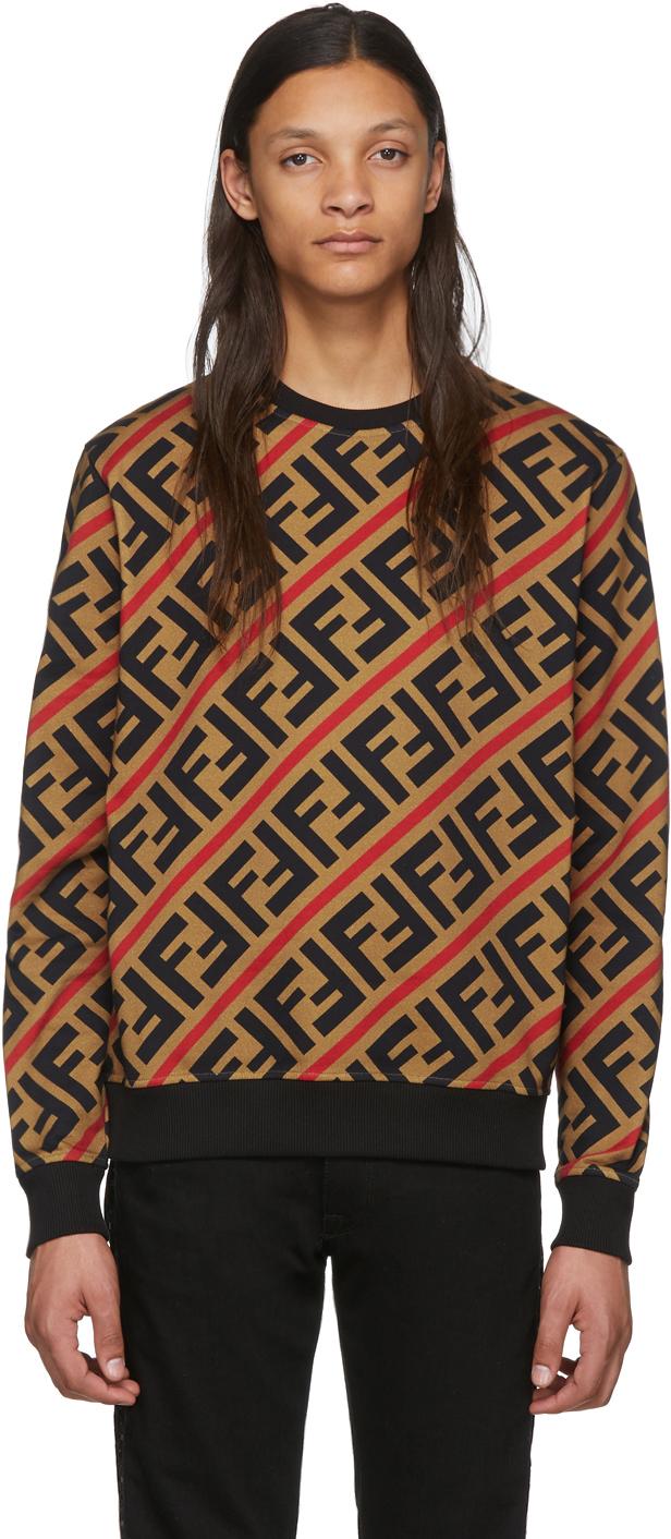 Fendi Tan 'Forever Fendi' Sweatshirt