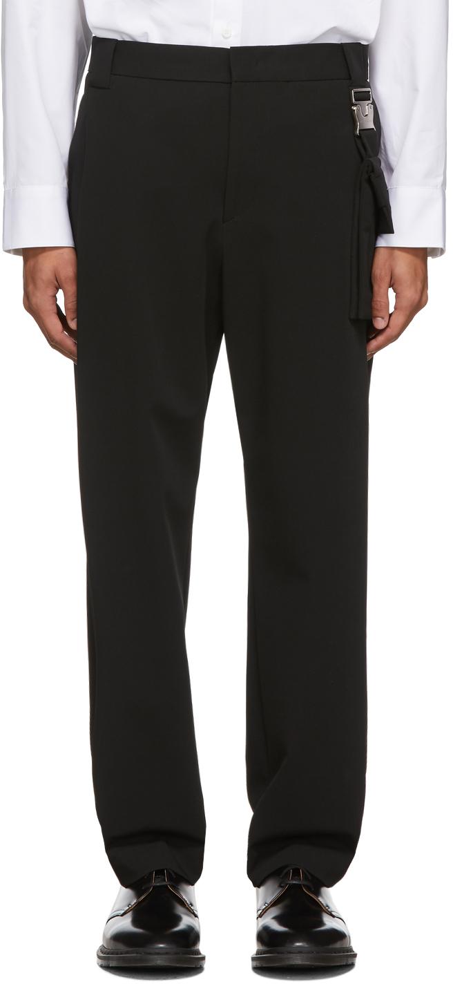Wooyoungmi Black Detachable Pouch Trousers