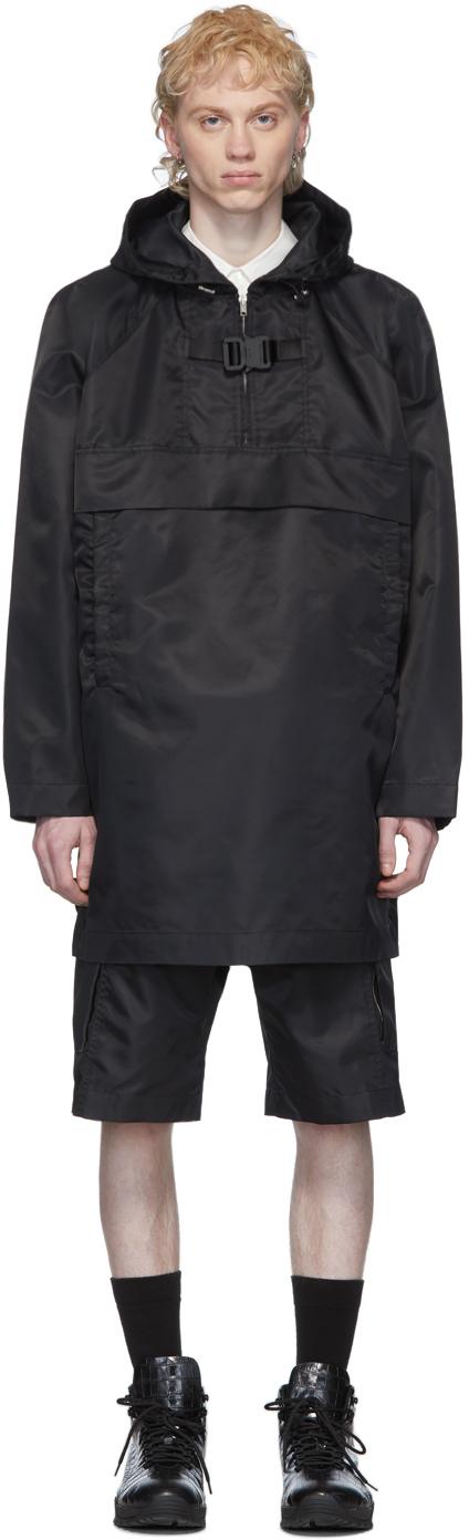 1017 ALYX 9SM Black Oversized Pullover Coat