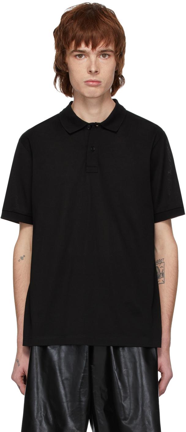 Bottega Veneta Black Embroidered Logo Polo