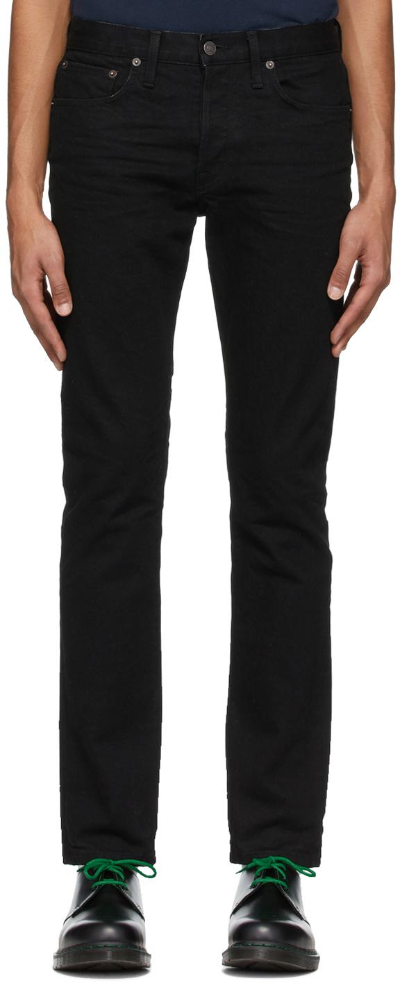 Re/Done Black Slim-Fit Jeans