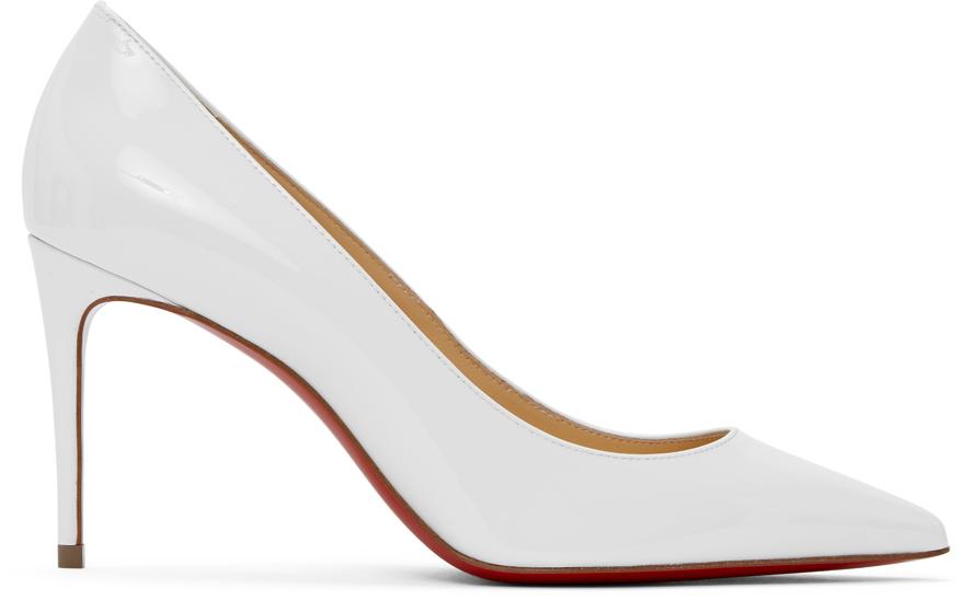 Christian Louboutin White Patent Kate 85 Heels