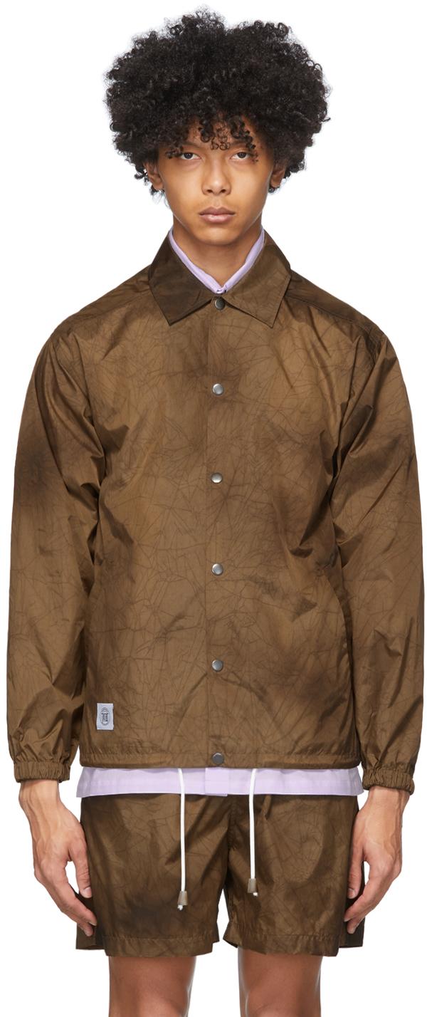 Nanushka Brown Tie-Dye Terry Jacket