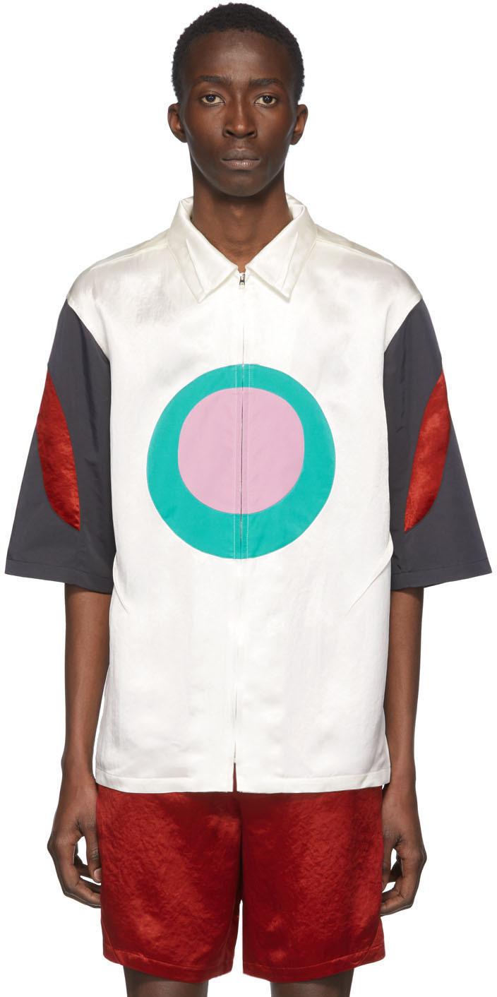 Kiko Kostadinov White & Multicolor Derby Oval Zip Shirt